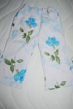 Kytičkované plátěné kalhoty vel. 104, 104