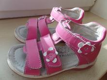Kožené sandálky protetika s kytičkou, protetika,26
