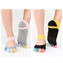 Prstové protiskluzové ponožky s otevřeným nártem,