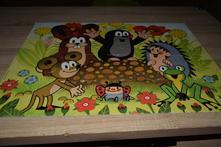 Dino puzzle krtek na krtině maxi 24 dílků,