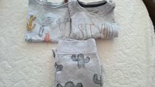 Set tepláčky, body a tričko, reserved,74