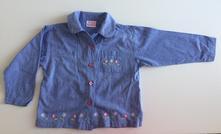 Lehká bavlněná košile s výšivkami dl. r., 110