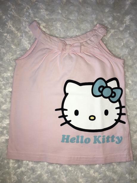 Růžové tílko/tunika s hello kitty h&m, h&m,74