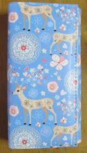 Dámská peněženka modrá s jelenem,