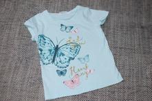 Triko s motýlky hm, velikost 104/110, h&m,104