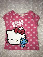 Růžové tričko s hello kitty h&m, h&m,92