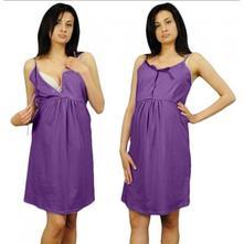Noční košilka na ramínka - fialová, l / m / s / xl
