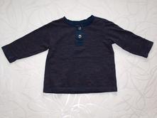 Tričko s knoflíkovou légou, h&m,68