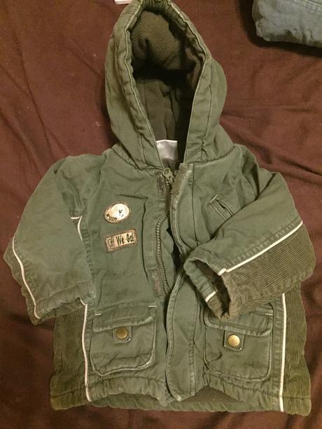 Zimní bunda barva khaki, 74