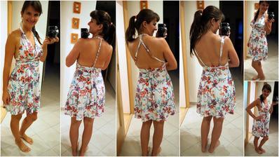 """jedny šaty, 100x jinak!! Neskutečně jsem se zamilovala do těchto šatů, které nabízí nekonečné variace vázání, a to při volbě správného materiálu i pro větší či """"vykojené"""" poprsí!!! Navíc jsou tak dokonale vzdušné, že letos v létě jsem skoro nic jinéh"""