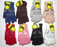 Teplé prstové rukavice s kožíškem, 134 / 140 / 146 / 152 / 158