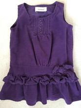 Fialové šaty z jemného manžestru, early days,80