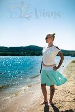 Letní kolová sukně, l - xxxl