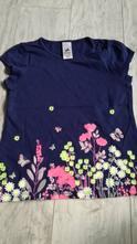 Modré tričko s květinami dívčí, palomino,128