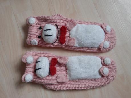 Pletené ponožky - prasátko,
