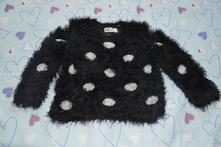 Chlupatkový svetr s puntíky, h&m,104