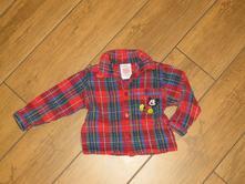 Disney - flaušová košile - frajerská vel. 6/12 měs, disney,80
