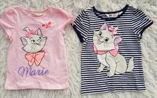 2x trička s kočičkou 4-6 let, h&m,116