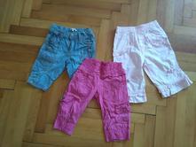 Dívčí letní kalhoty 3/4 set 3 ks, 92