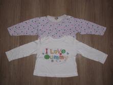Duopack dívčích triček, vl404, dimo,86