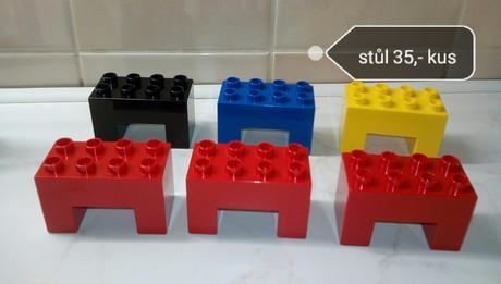 Lego duplo stůl, kus za 35,-,