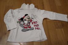 Vánoční tričko s mickeym vel. 80, c&a,80