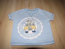 Modré tričko s pejskem v autě zn.cherokee vel. 80, cherokee,80