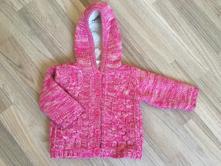 Zateplený růžový svetr, f&f,68