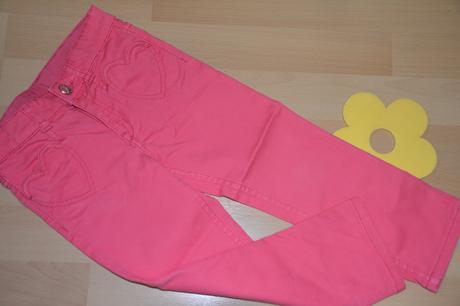 Růžové džínečky hm, vel. 98, h&m,98