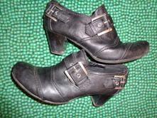 Černé kotníčkové boty graceland - přezky, graceland,39