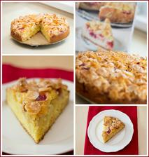 Jablečný koláč s brusinkami a kukuřičnými lupínky