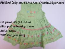 Plátěné šaty zn. st. michael, marks & spencer,86
