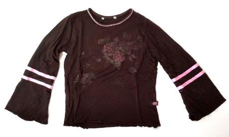S25 - tmavě hnědé tričko, 98