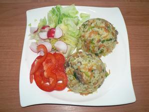 OBĚD: žampionové rizeto, zelenina