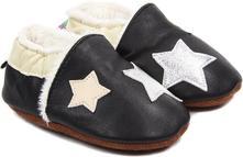 Botičky zimní - uni - černé s hvězdičkami, <17 - 26
