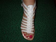 Luxusní bílé kožené páskové boty s. oliver, s.oliver,39
