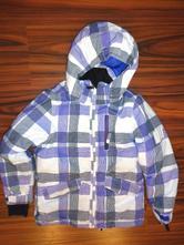 Krásná bílofialová teploučká zimní bunda brunotti, 128