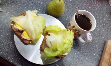 Rajcatova pomazanka, varene vejce