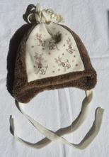 C64dívčí / chlapecká huňatá zimní čepice, 74