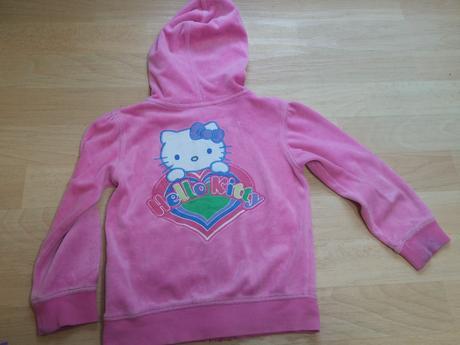 Mikina sametová růžová hello kitty , marks & spencer,110