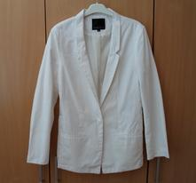 Bílé elegantní dámské sako sáčko amisu, amisu,38