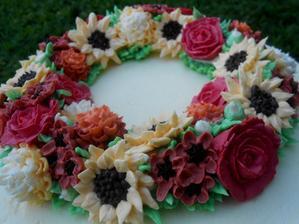 Květy z krému:)