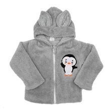 Zimní dětská mikina new baby penguin šedá, new baby,56 - 98