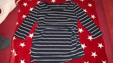 Pruhované těhotenské tričko  h&m, m