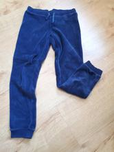 2x krásné pohodlné sametové tepláky modré a růžové, benetton,128