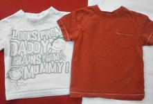 2x triko s krátkým rukávem 86-92, next,86