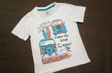 Bílé triko s obrázkem topolino, topolino,98