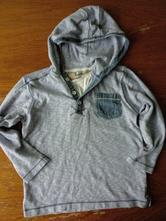Světle modré tričko s kapucí , next,104