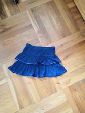 Modrá sukně s kanýry s flitry vel. 116, dopodopo,116
