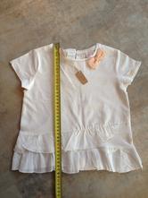 Nové bílé tričko zara girl 2-3r, 98cm mašle kanýr, zara,98